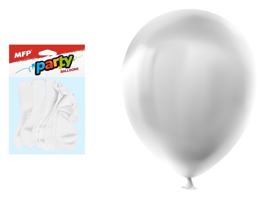 Balónik M štandard 12ks 30cm biely