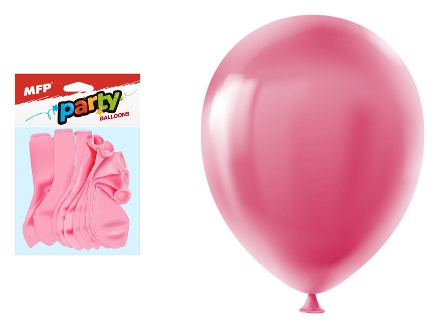 Balónik M balenie 12ks štandard 30cm ružový