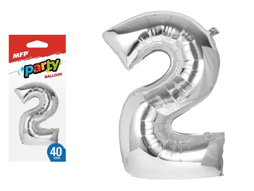 Balónik č. 2 nafukovací fóliový 40 cm