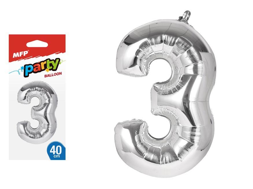 Balónik č. 3 nafukovací fóliový 40 cm