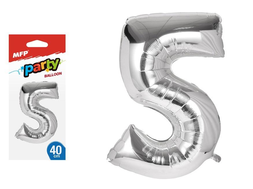Balónik č. 5 nafukovací fóliový 40 cm