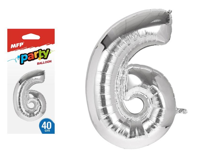 Balónik č. 6 nafukovací fóliový 40 cm