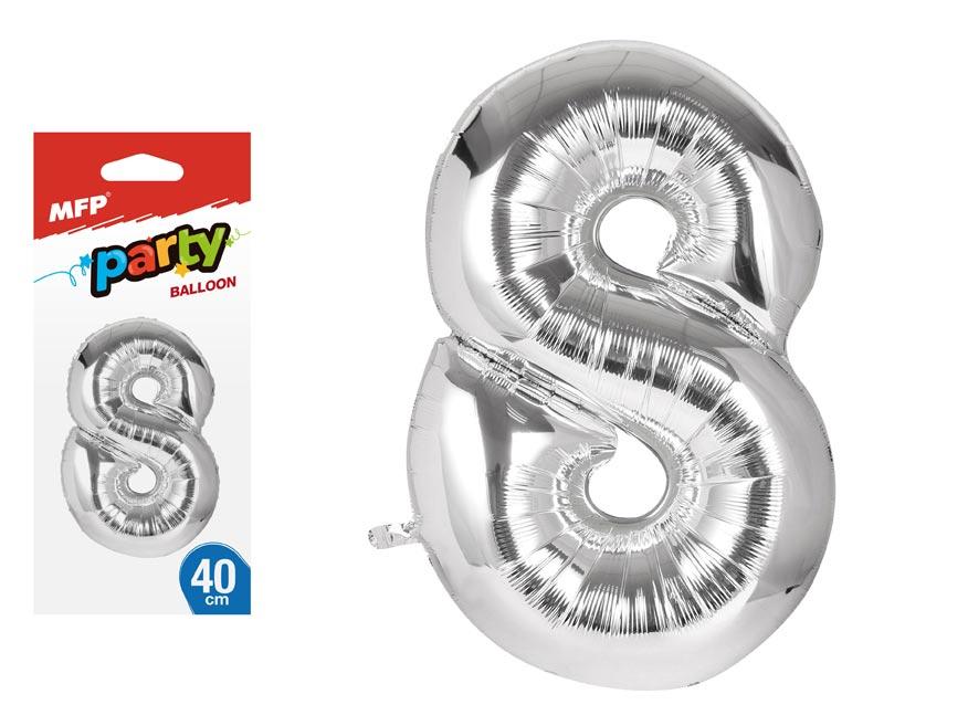 Balónik č. 8 nafukovací fóliový 40 cm