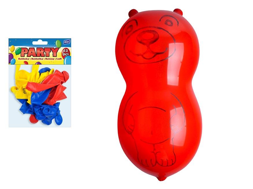 Balónik M balenie 12ks nafukovací štandard medveď