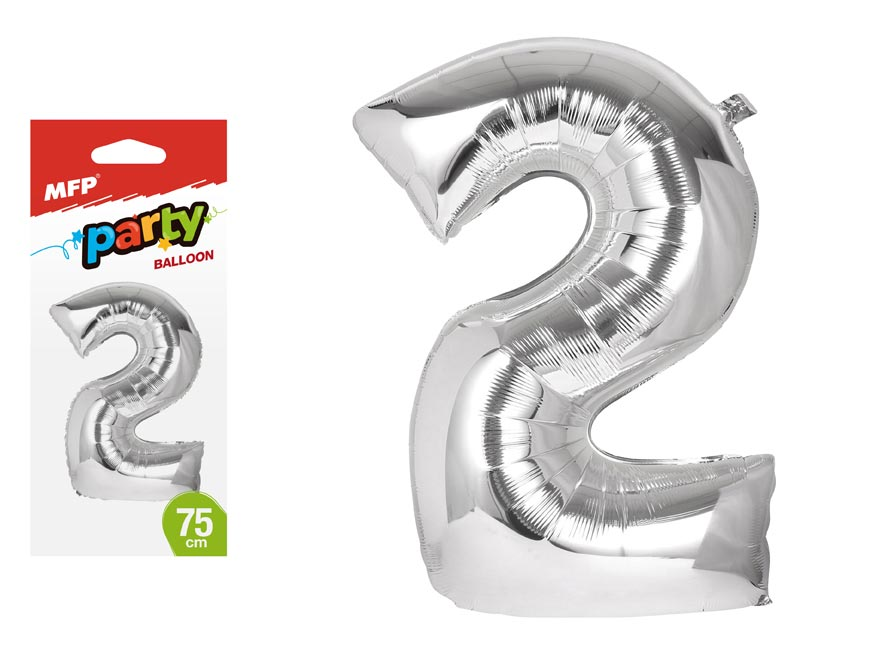Balónik č. 2 nafukovací fóliový 75 cm