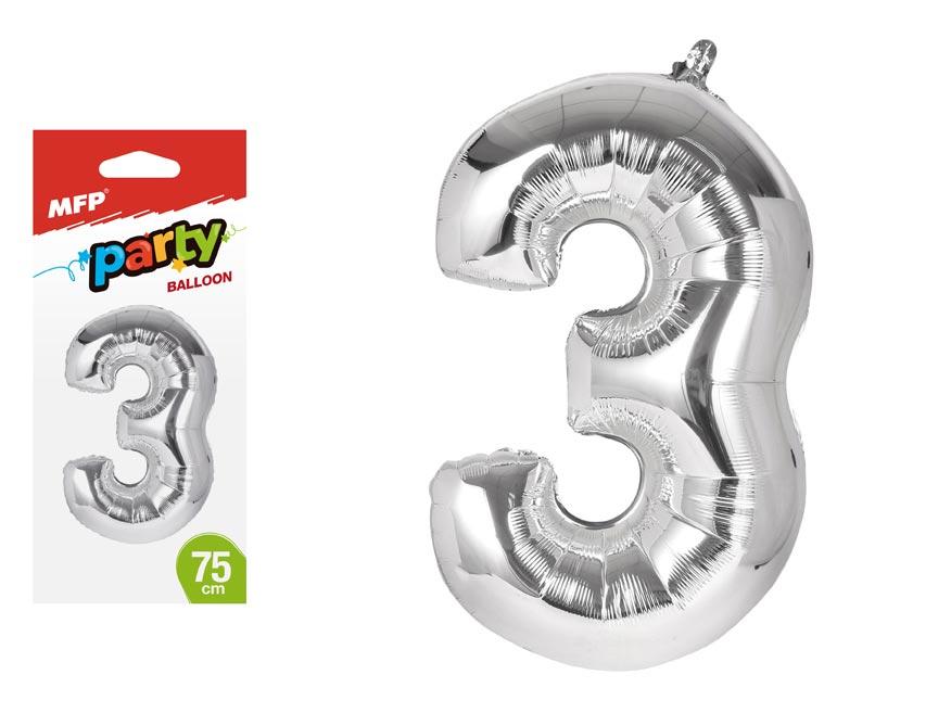 Balónik č. 3 nafukovací fóliový 75 cm