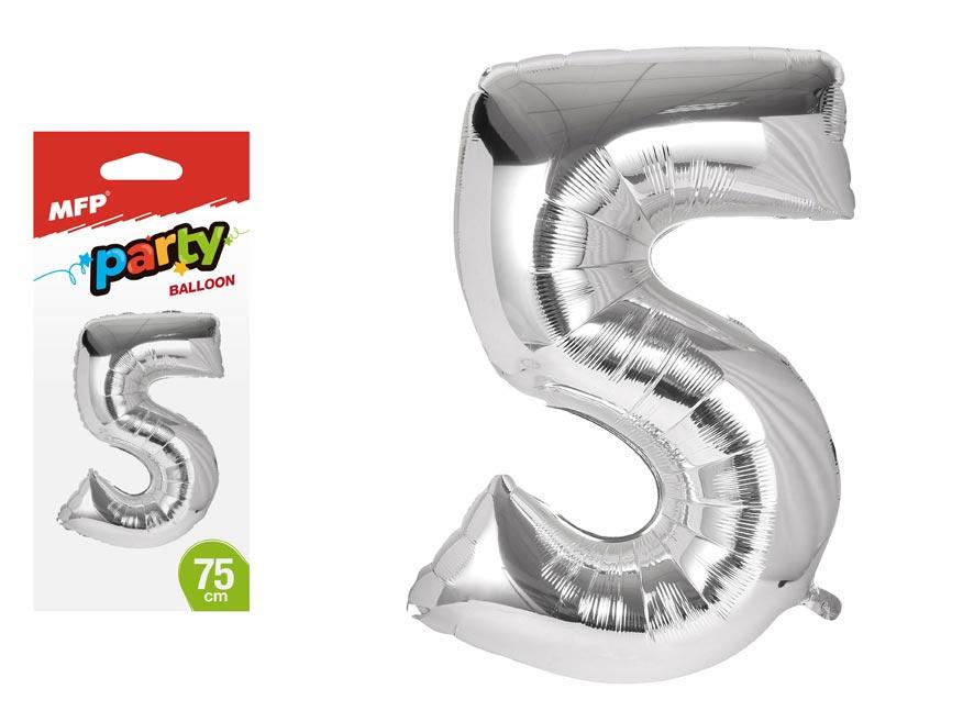 Balónik č. 5 nafukovací fóliový 75 cm