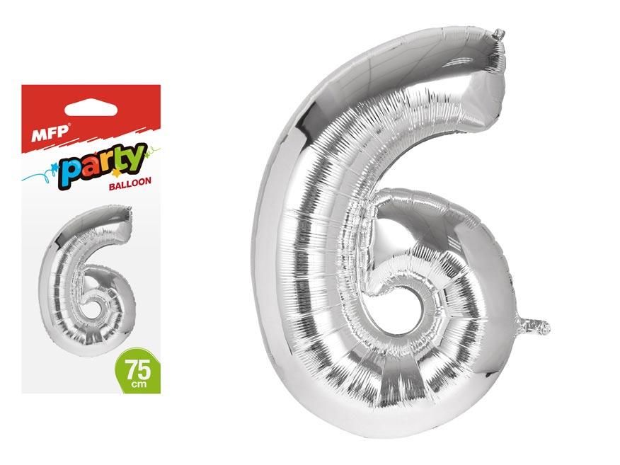 Balónik č. 6 nafukovací fóliový 75 cm