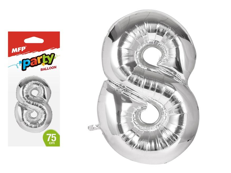 Balónik č. 8 nafukovací fóliový 75 cm