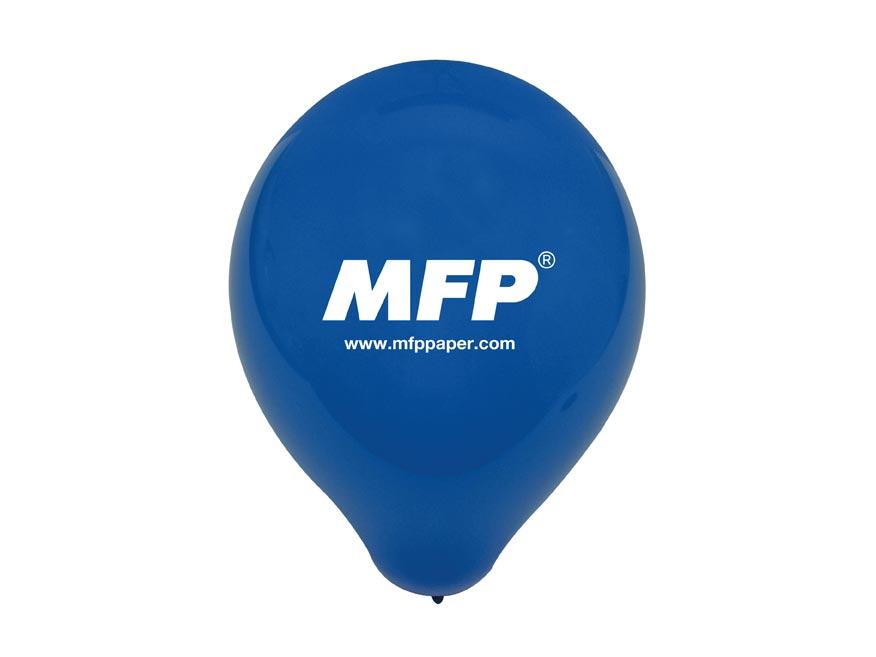 Balónik MFP reklamný 23cm modrý standard