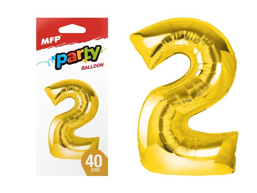 balónik č. 2 nafukovací fóliový 40 cm - zlatý 8000175