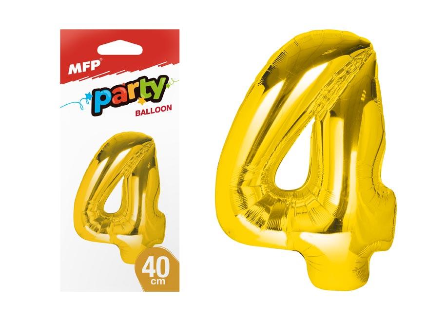 balónik č. 4 nafukovací fóliový 40 cm - zlatý 8000177