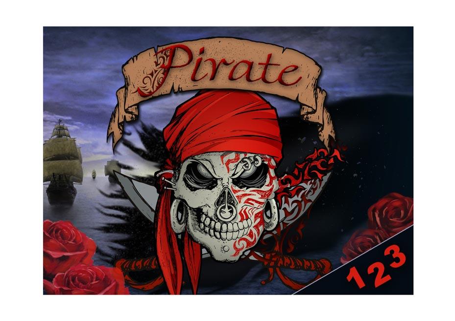 Dosky na číslice MFP Piráti