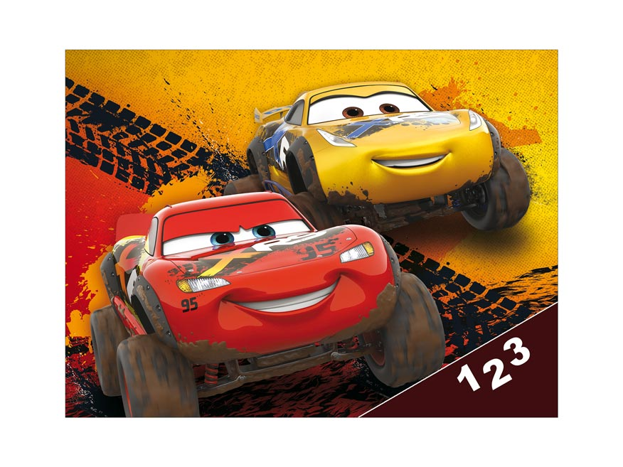 Dosky na číslice MFP Disney (Cars)