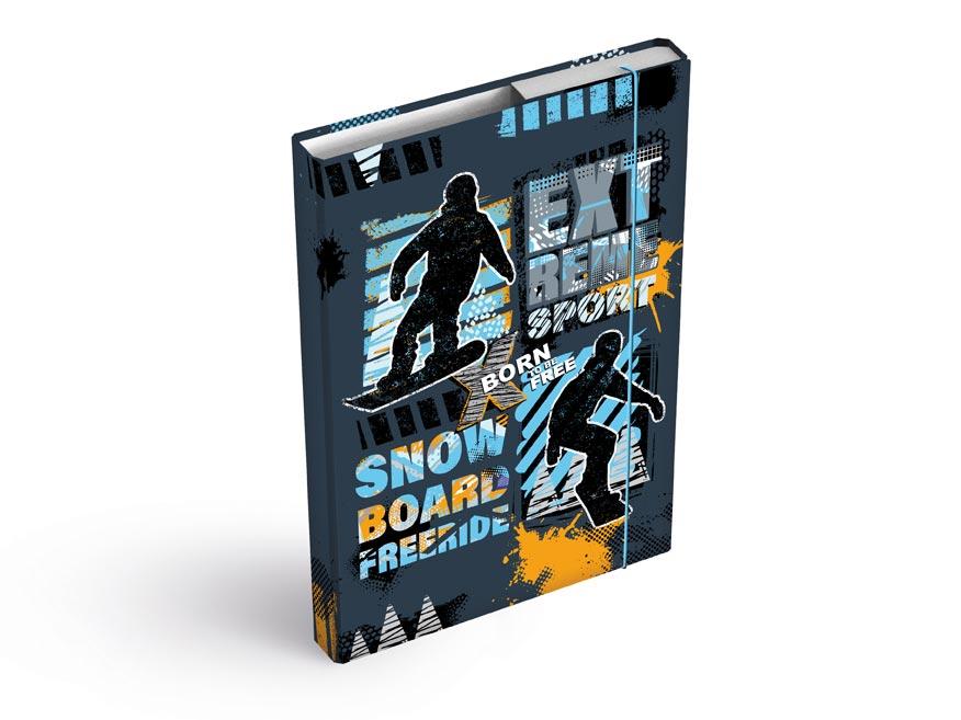 MFP 8020926 Dosky na zošity box A4 Snowboard