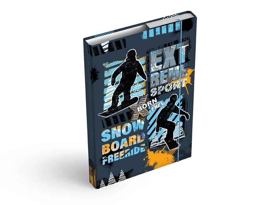 MFP 8020936 Dosky na zošity box A5 Snowboard