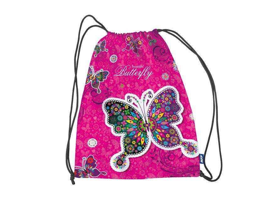 Vrecko na prezúvky Motýl 31 x 42 cm