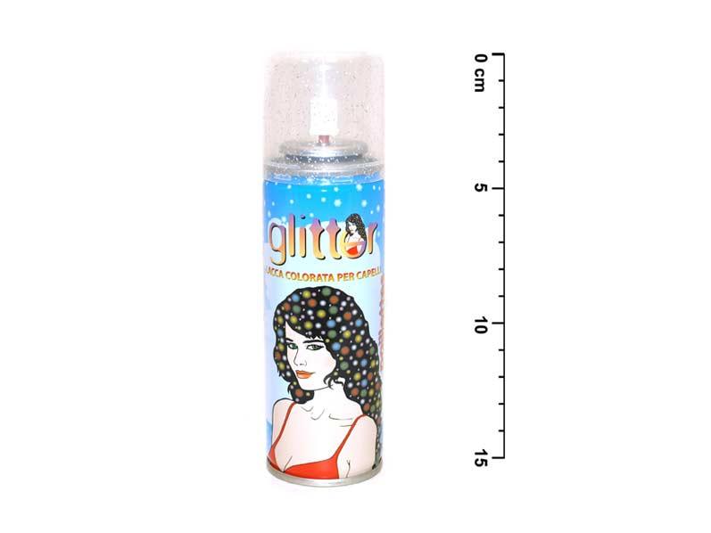 Spray na vlasy 143 trblietka strieborný