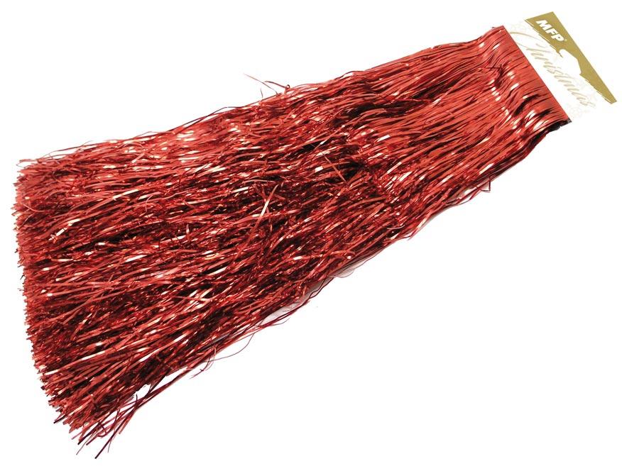 Lameta vianočná červená metal