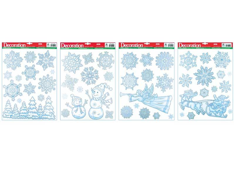 Fólia okenná 349 ľadové so striebornými glitrami 42x30cm