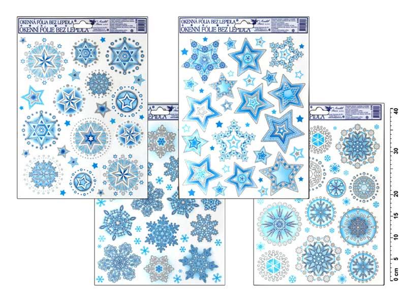 Fólia okenná 335 vločky ľadové v kruhoch 42x30cm