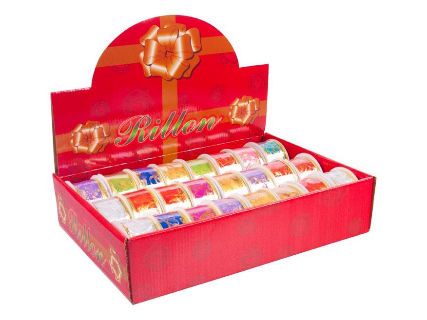 stuha vianočná 2,7m x 3,8cm box mix 8881870
