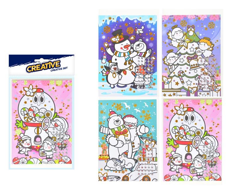 kreatívny set vianočný prianie s kamienkami + obálka140x230mm 8882329