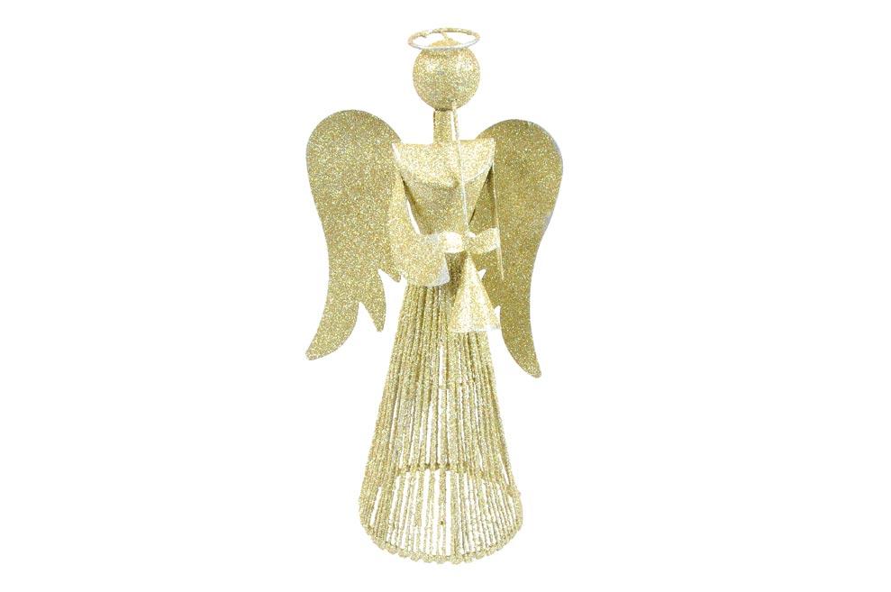 anjel 30cm strieborný metal s Anjelskou trubkou 8882345