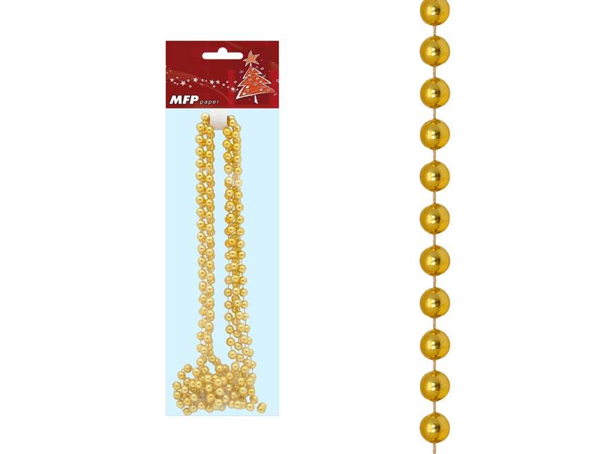 MFP 8885067 Reťaz guličky zlatá 2,7m 8mm AY09- A729GO