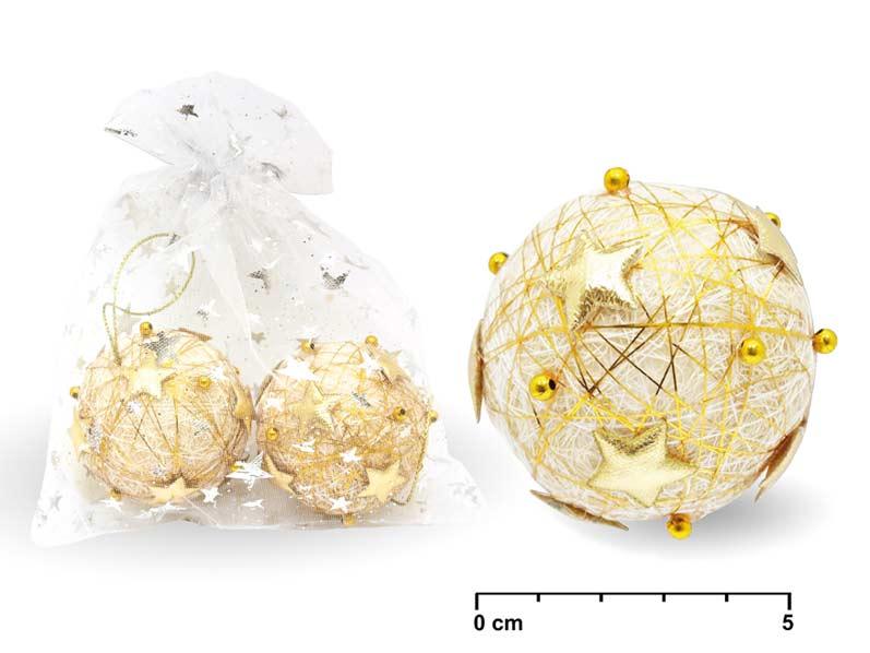 Guľa 5,5cm 2ks zlatá 09- 317B