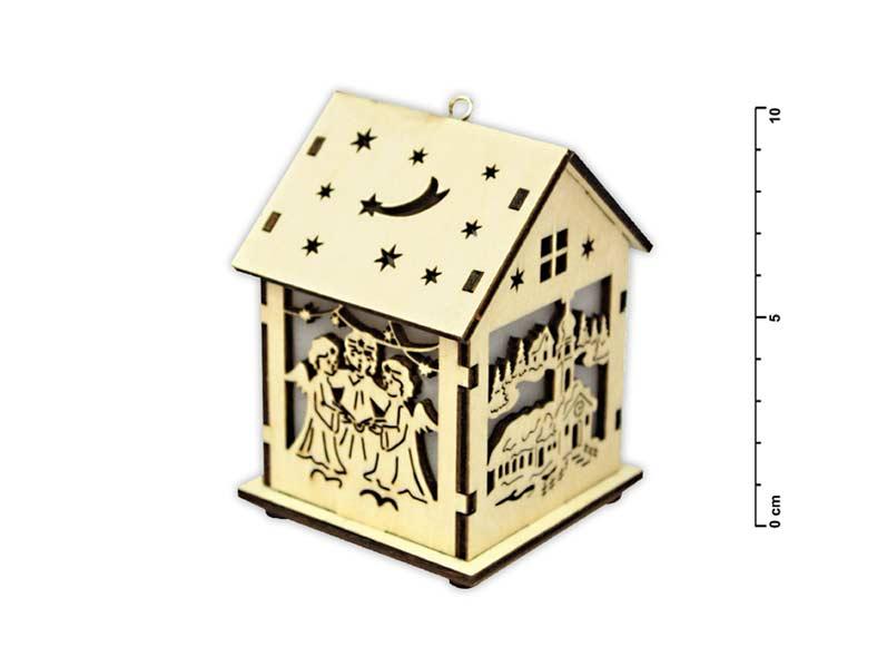Svietnik domček drevený LMX- 5400Y