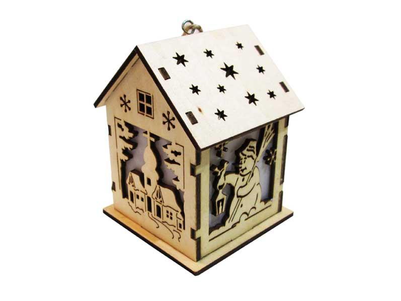 Svietnik domček drevený LMX- 5268Y