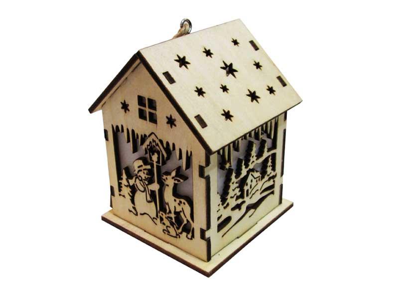 Svietnik domček drevený LMX- 5395Y