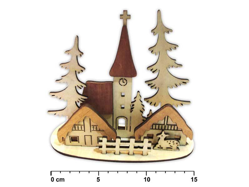 Svietnik dedinka drevený LMX- 5607