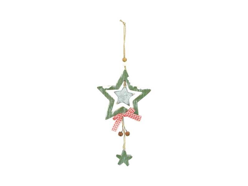 Záves hviezda drevený HW- 38761A