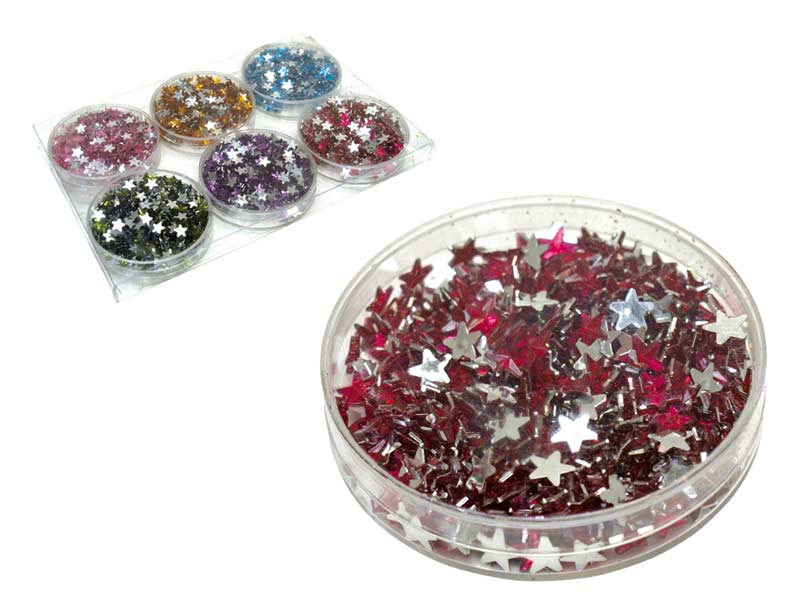 konfety hviezdičky 8g mix farieb 8885410