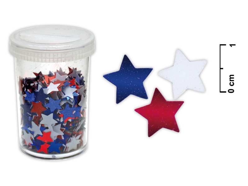 Konfety hviezdičky 25g mix farieb