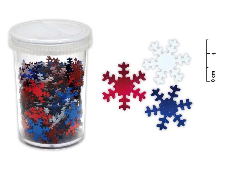 Konfety vločky 25g mix farieb