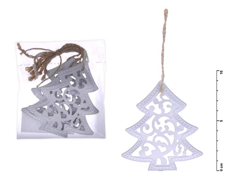 stromček záves kov biely 9cm 8885445