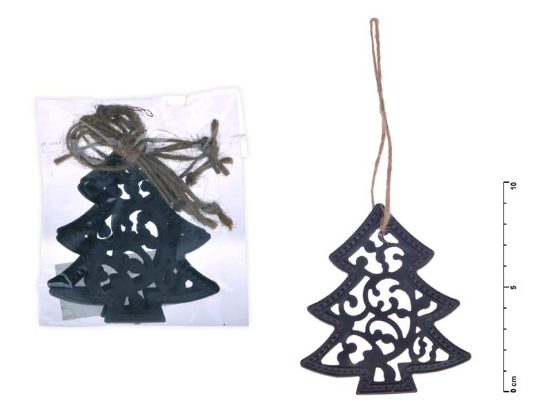 stromček kov záves čierny mat 9cm 8885446