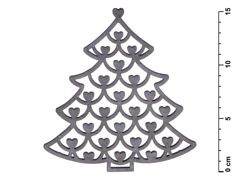 stromček záves drevo 15cm 8885454
