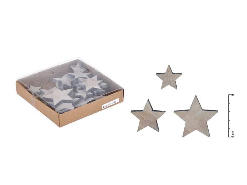 Dekorácia hviezda 22ks mix veľkosť