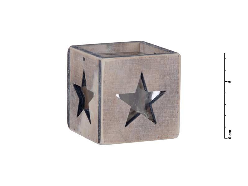 svietnik drevo hviezda 7,5cm 8885463