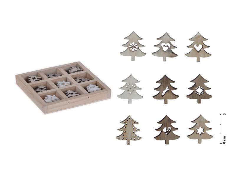 Dekorácia box stromček 36ks 13x13cm