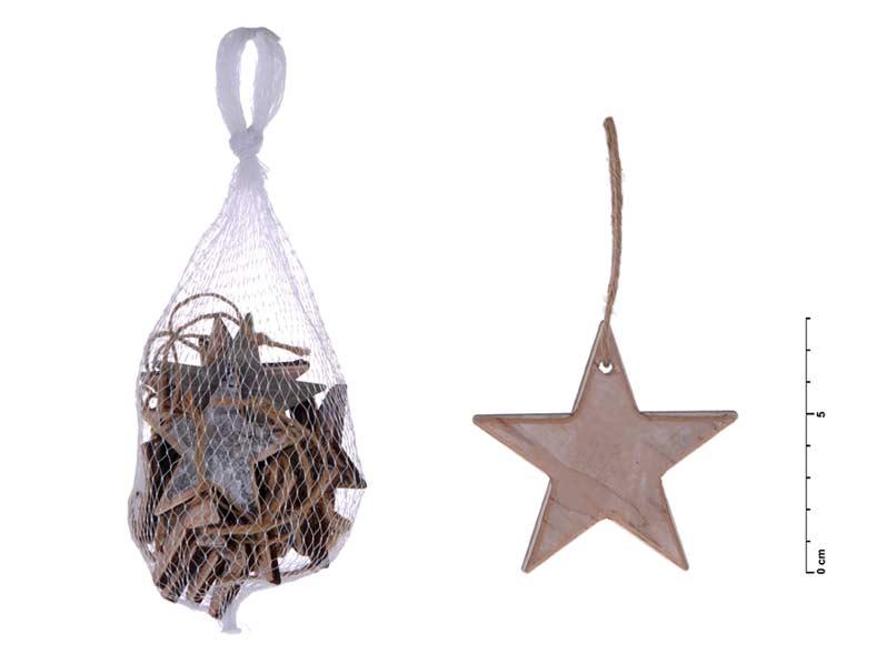 Hviezda záves prírodný 8cm