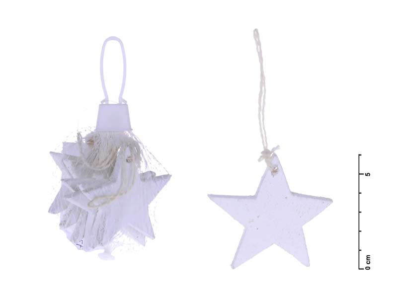 Hviezda záves biela 6cm