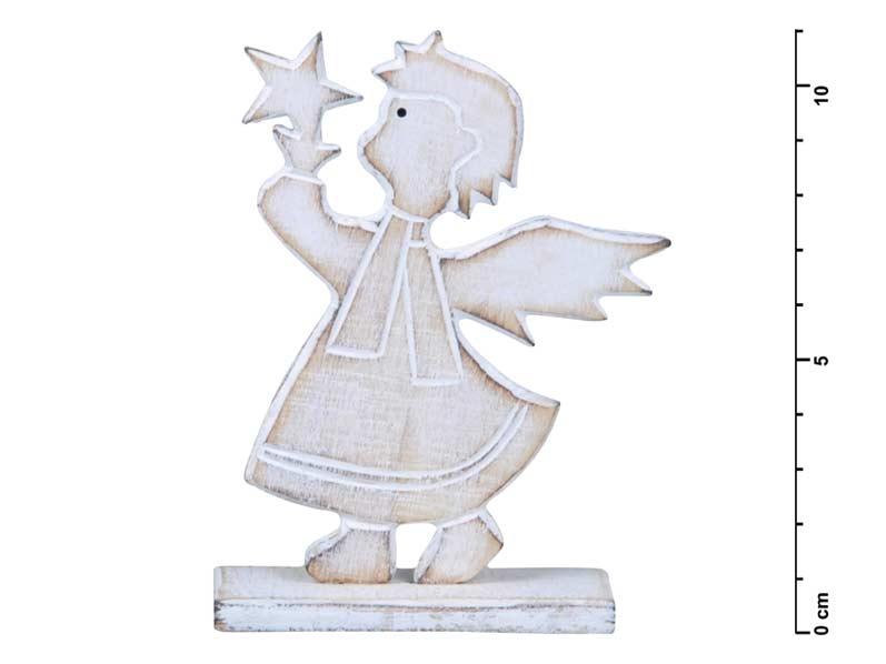 Anjel drevený 11cm HW- 52920D