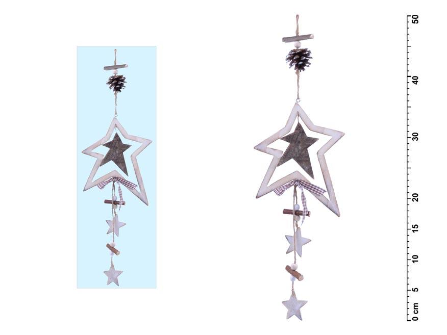 hviezdička drevená 50cm záves JK- 2481B 8885515