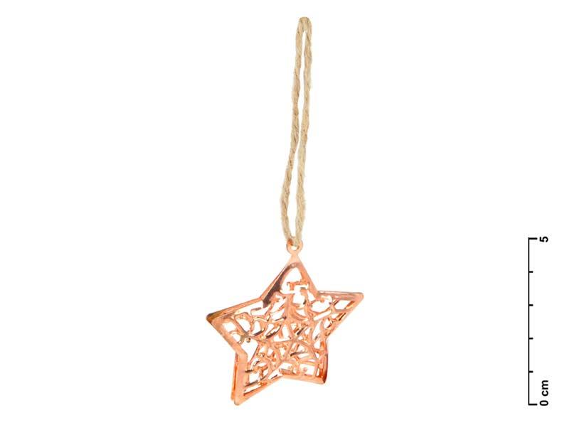 Hviezda kov medená 3D 4,5cm - záves