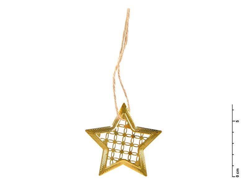Hviezda kov zlatá 7 cm - záves